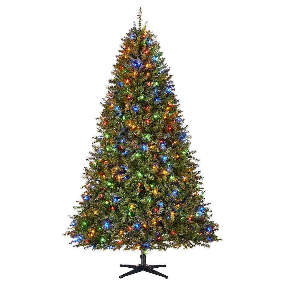 Christmas In Color.Home Accents Holiday 7 5 Ft Pre Lit Led Matthew Fir Artificial Christmas Tree With 450 Surebright Color Changing Lights