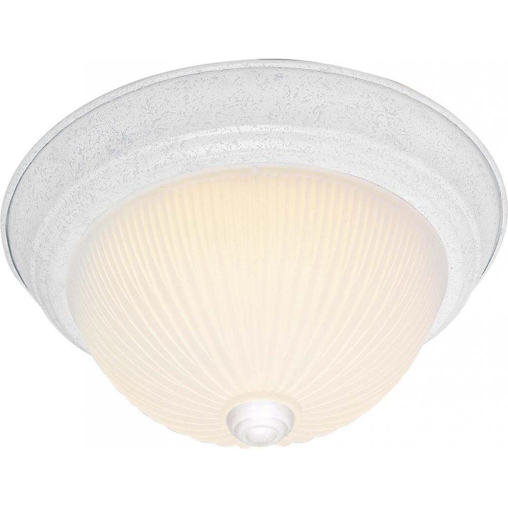 Tony 3-Light Textured White Flush Mount