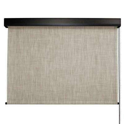 Carmel Premium PVC Fabric Exterior Roller Shade Cord Operated with Protective Valance - 96 in. W x 96 in. L