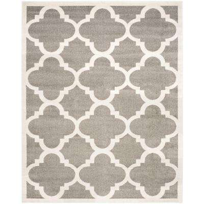 Amherst Dark Gray/Beige 9 ft. x 12 ft. Indoor/Outdoor Area Rug