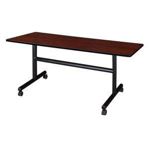 Kobe Cherry 60 in. W x 30 in. D Flip Top Mobile Training Table