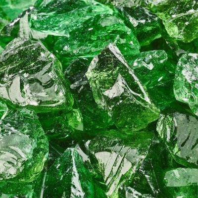 10 lbs. of Emerald Green 1/2 in. to 3/4 in. Crushed Fire Glass