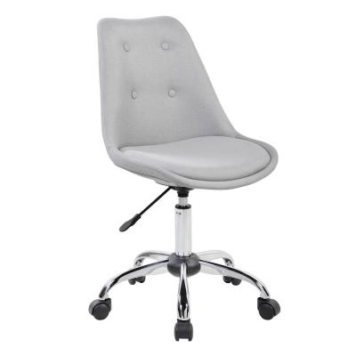 Gray Armless Task Chair with Buttons
