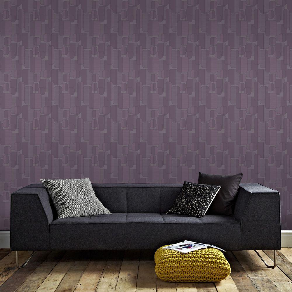 Graham And Brown Ponder Purple Removable Wallpaper Sample