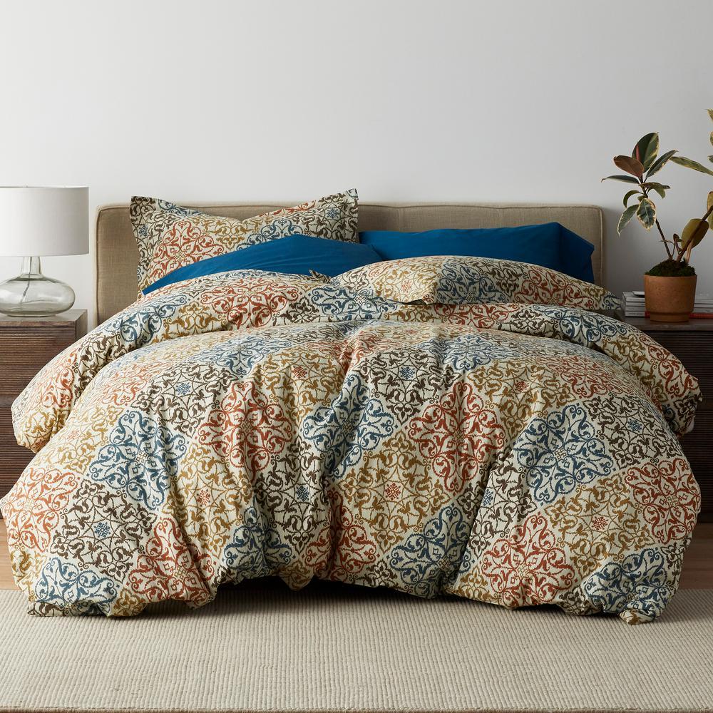 Seville 3-Piece 200-Thread Count Cotton Percale Full Duvet Cover Set