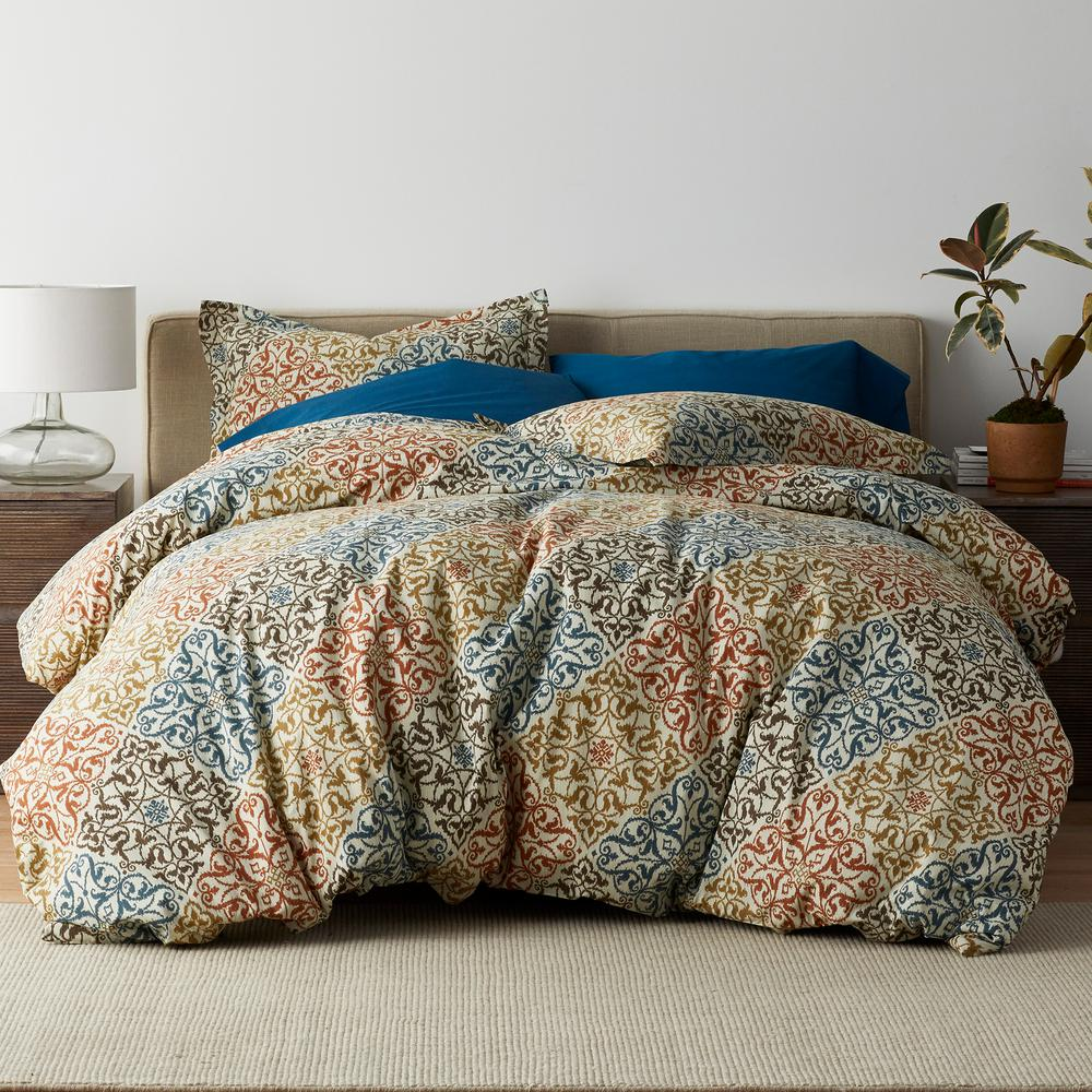 Seville 3-Piece 200 Thread Count Cotton Percale Full Duvet Cover Set