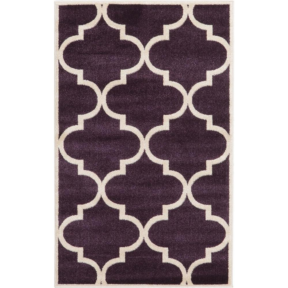 Unique Loom Trellis Purple 3 3 Quot X 5 3 Quot Rug 3116148 The