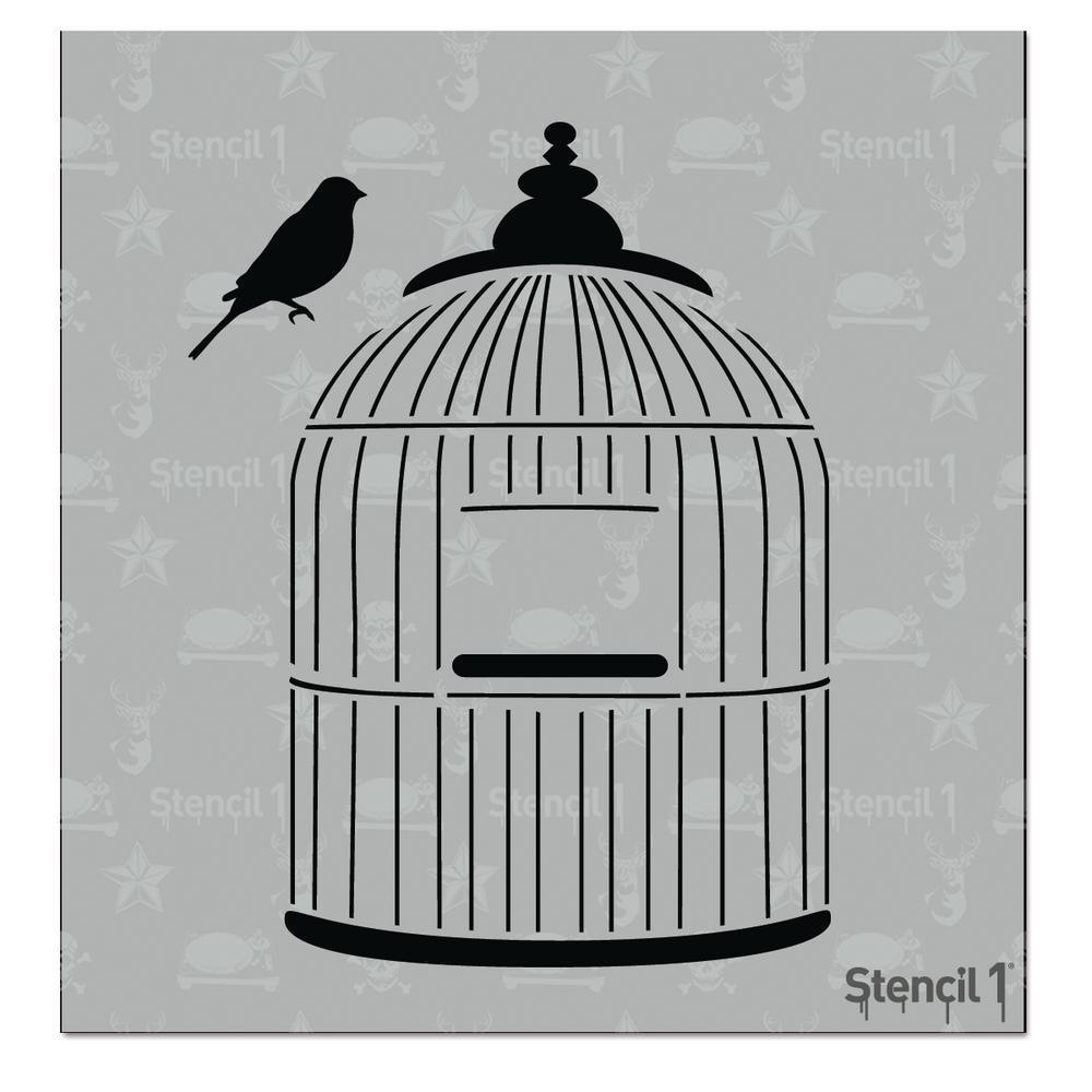 Bird Cage Small Stencil
