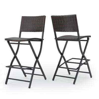 Margarita Foldable Wicker Outdoor Bar Stool (2-Pack)