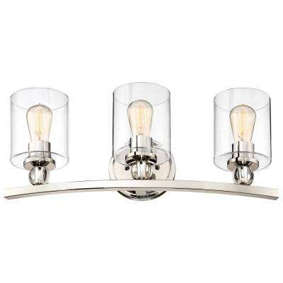 Studio 5 Collection 3-Light Polished Nickel Bath Light