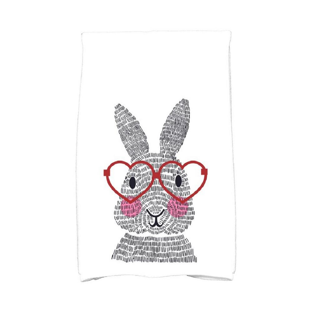 16 in. x 25 in. Red What\'s Up Bunny Holiday Animal Print Kitchen ...