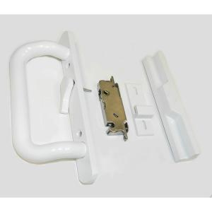 Barton Kramer White Sliding Door Handle and Lock Set by Barton Kramer