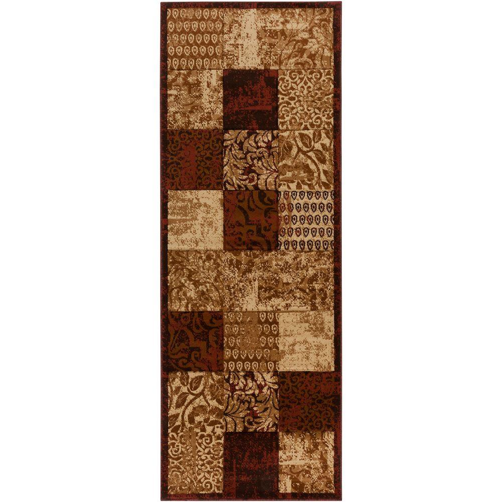 Artistic Weavers Sierra Brown 2 ft. 7 in. x 7 ft. 3 in. Area Rug-DISCONTINUED
