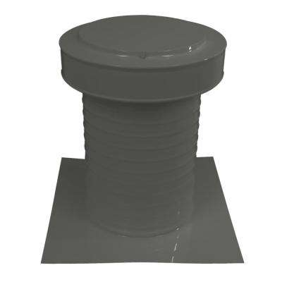 9 in. Dia Keepa Vent an Aluminum Static Roof Vent for Flat Roofs in Weatherwood