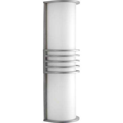 Parker Collection 2-Light Outdoor Satin Aluminum Wall Lantern