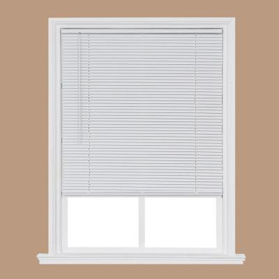 White Cordless 1 in. Room Darkening Vinyl Mini Blind 36 in. W x 64 in. L