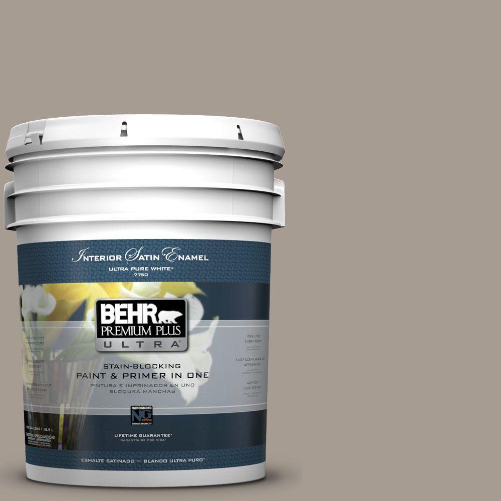 BEHR Premium Plus Ultra 5-gal. #N200-4 Rustic Taupe Satin Enamel Interior Paint