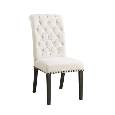 Wooden Beige Dining Side Chair (Set of 2)
