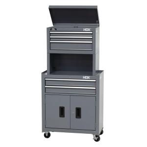 HDX 26 in. 5-Drawer Tool Chest and Cabinet Combo with Riser-C ...