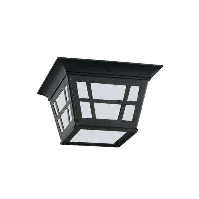 Herrington Black 2-Light Outdoor Flush Mount