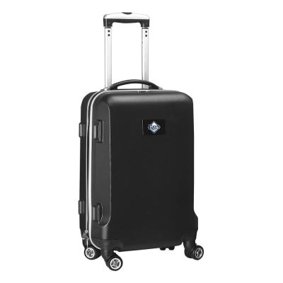 Denco MLB Tampa Bay Rays Black 21 in. Carry-On Hardcase Spinner Suitcase