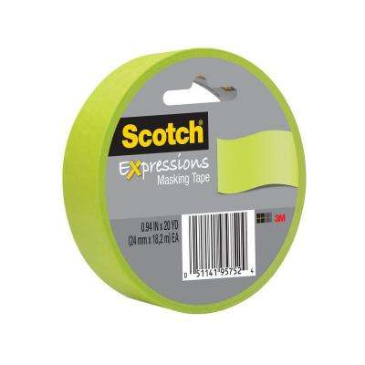Scotch 0.94 in. x 20 yds. Lemon Lime Expressions Masking Tape (Case of 36)