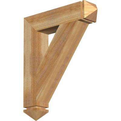 4 in. x 24 in. x 20 in. Western Red Cedar Traditional Arts and Crafts Rough Sawn Bracket