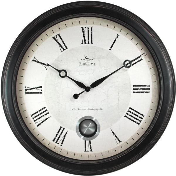 Firstime 24 In Round Adair Wall Clock 25605 The Home Depot