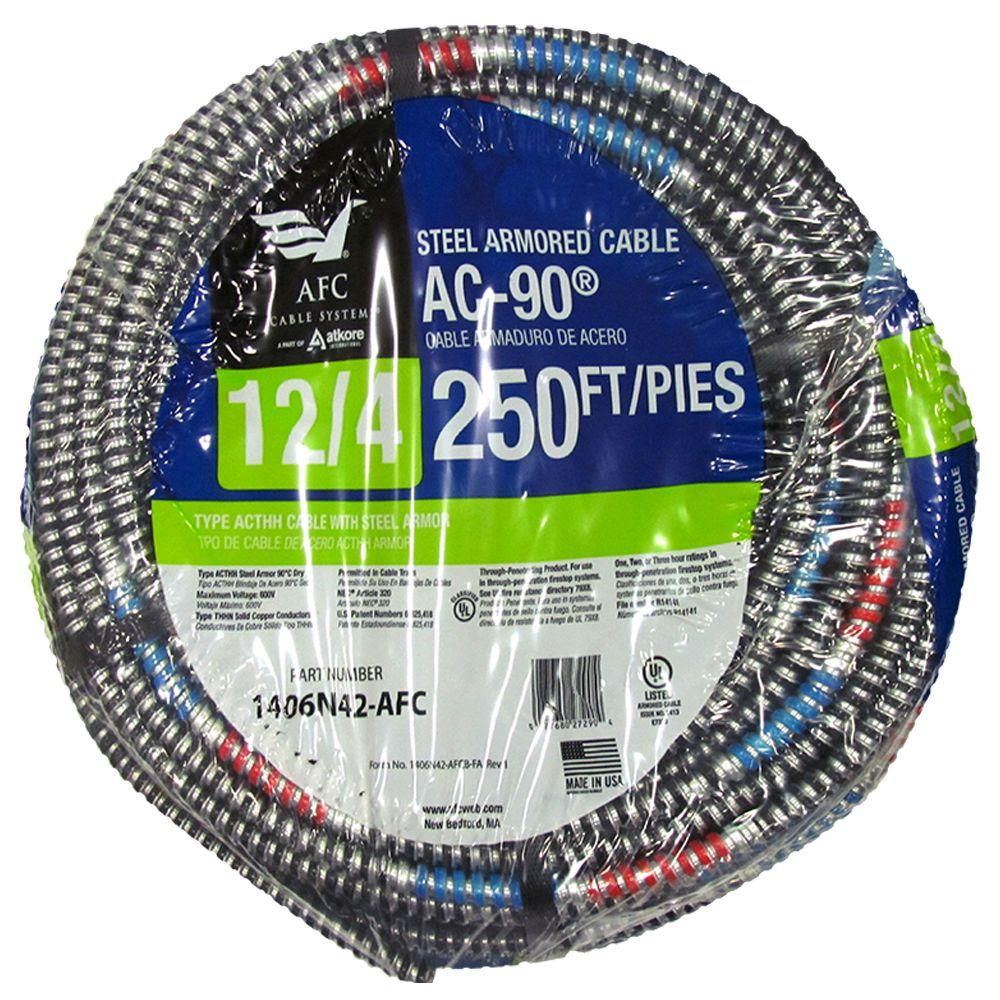 Strange Afc Cable Systems 12 4 X 250 Ft Bx Ac 90 Solid Cable 1406N42 Afc Wiring 101 Jonihateforg