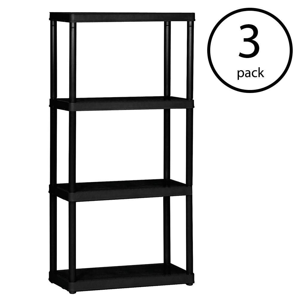 4-Tier Shelf Duty Indoor Garage Storage Shelving Unit (3-Pack)