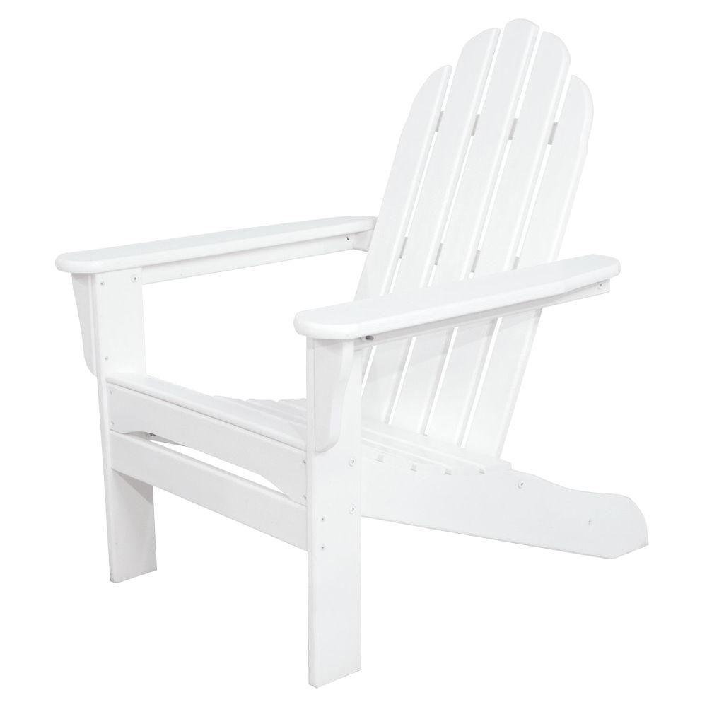 White Plastic Patio Adirondack Chair