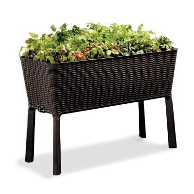 Easy Grow 44.9 in. W x 29.8 in. H Brown Raised Garden Bed