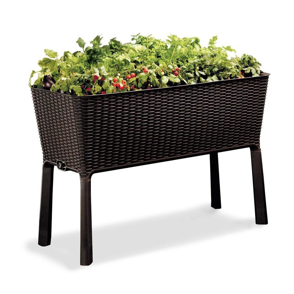Easy Grow 44.9 in. W x 29.8 in. H Brown Raised Garden Bed