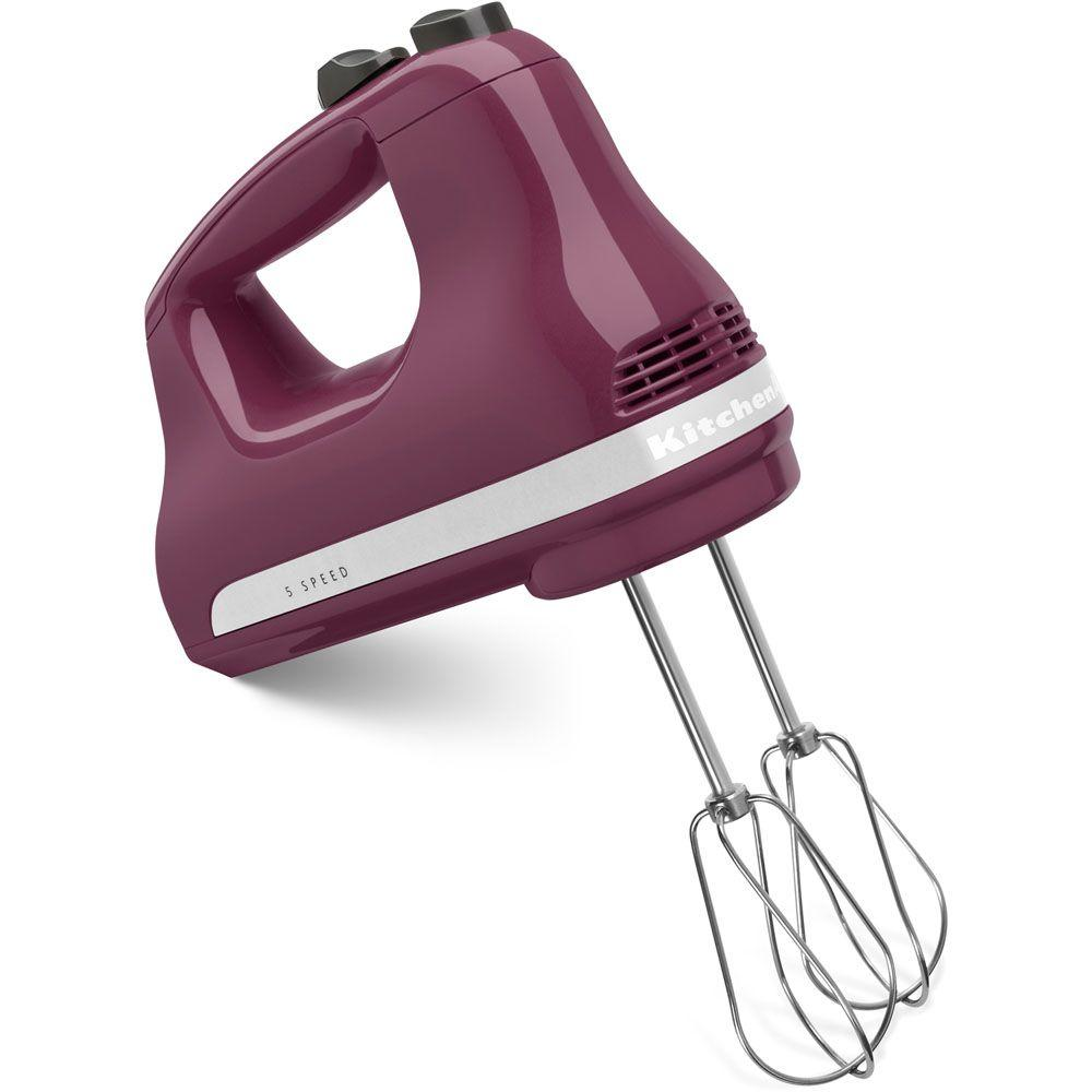 KitchenAid Ultra Power 5-Speed Boysenberry Hand Mixer-KHM512BY - The ...