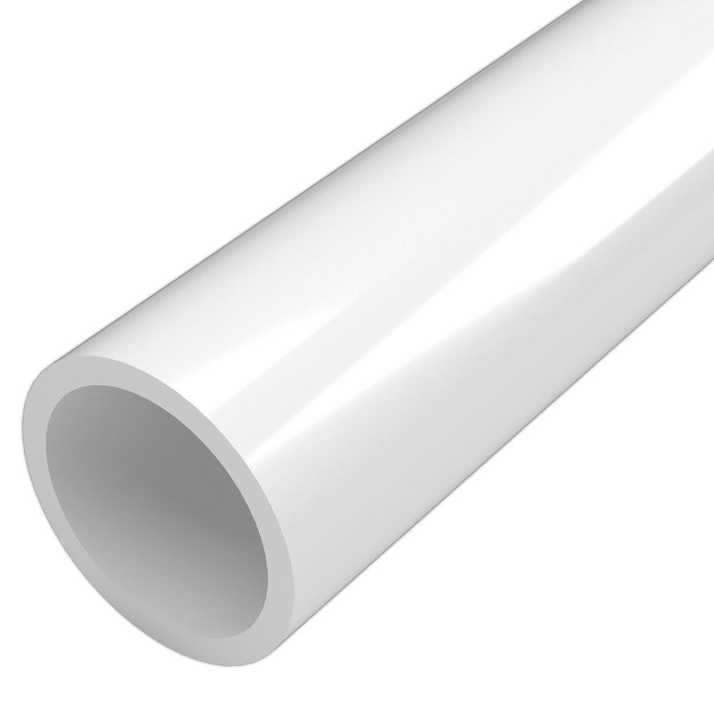 Formufit 1-1/2 in. x 5 ft. Furniture Grade Sch. 40 PVC Pipe in White
