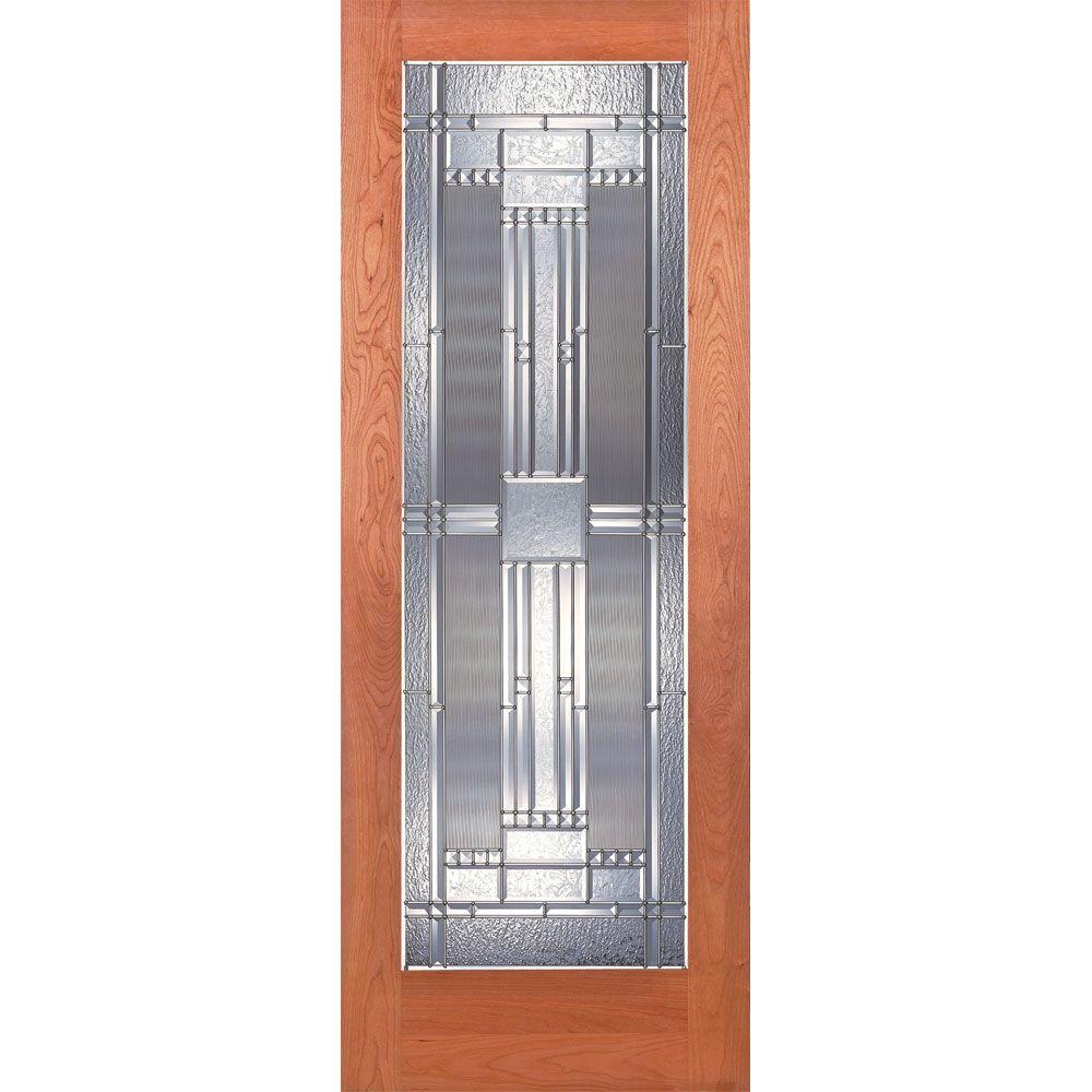 Delightful Preston Zinc Woodgrain 1 Lite Unfinished Cherry Interior Door Slab