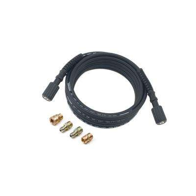 25 ft  Pressure Washer Hose with Quick-Connect and M22 Adapters