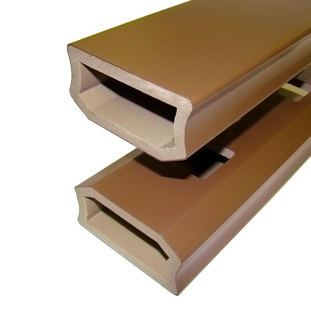 Veranda 1-1/4 in. x 3-1/2 in. x 6 ft. Bronze PVC Composite Stair Guard Rail Kit (2-Pack)
