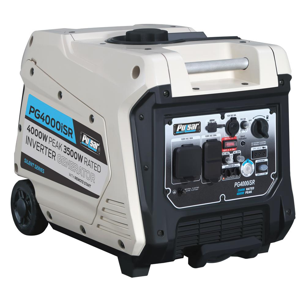 Pulsar 4,000/3,500-Watt Gasoline Powered Remote/Electric/Recoil Start  Portable Inverter Generator with 224 cc Ducar Engine