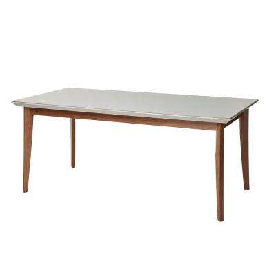 Lillian 70.86 in. Off-White Glass Top Dining Table