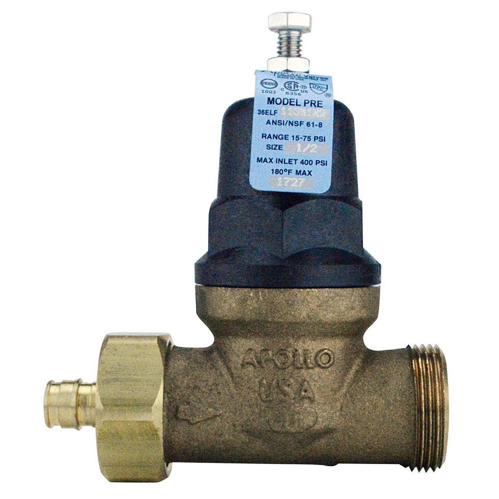 1/2 in. Bronze PEX-A Barb x 1/2 in. FIP Single Union Water Pressure Regulator