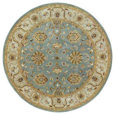 Mystic Agean Spa 9 ft. x 9 ft. Round Area Rug