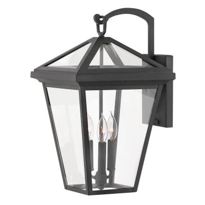 Alford Place Large Museum Black Outdoor Wall Mount Lantern