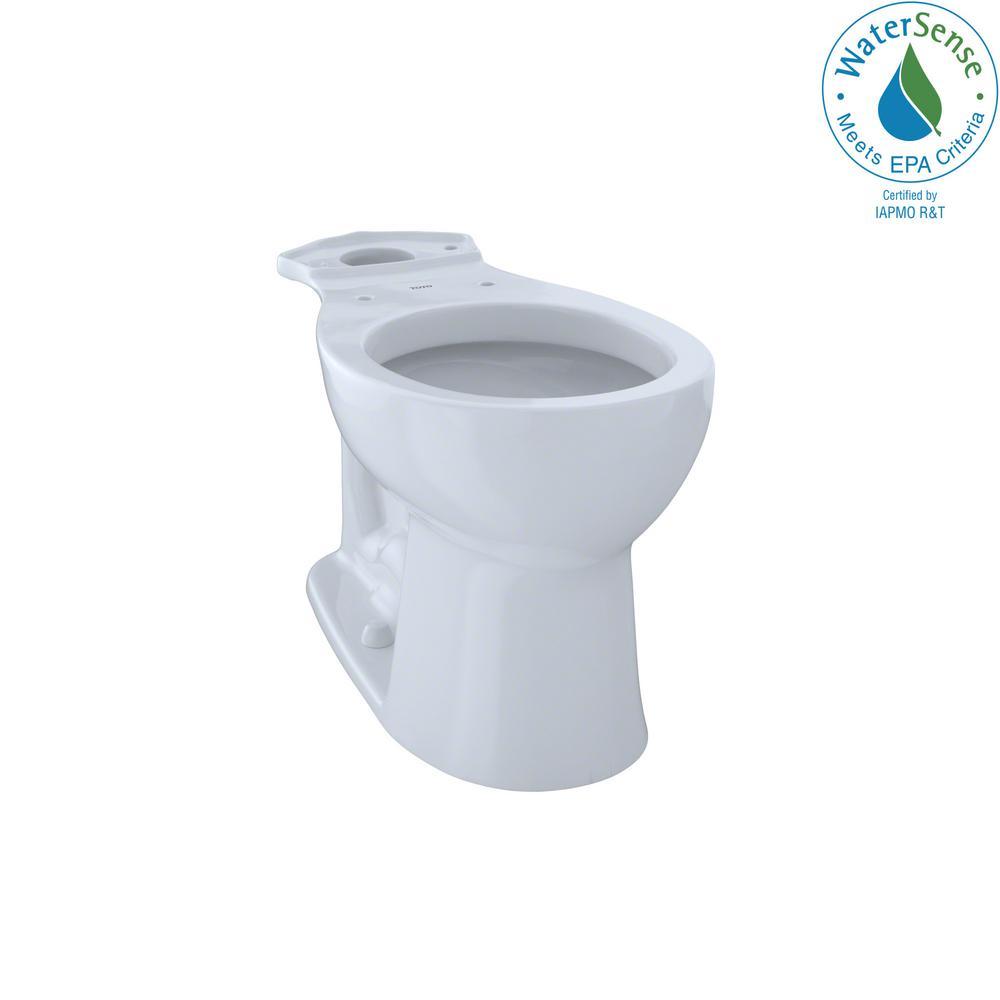 Entrada Round Toilet Bowl Only in Cotton White