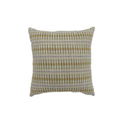 Maila 18 in. Contemporary Standard Throw Pillow in Yellow