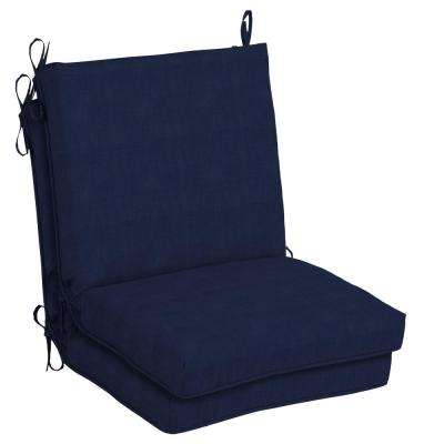 CushionGuard Midnight Outdoor Dining Chair Cushion (2-Pack)