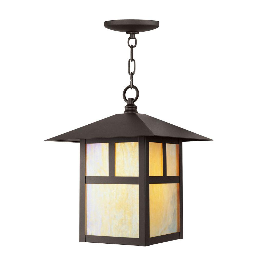 Providence 1-Light Bronze Outdoor Incandescent Pendant