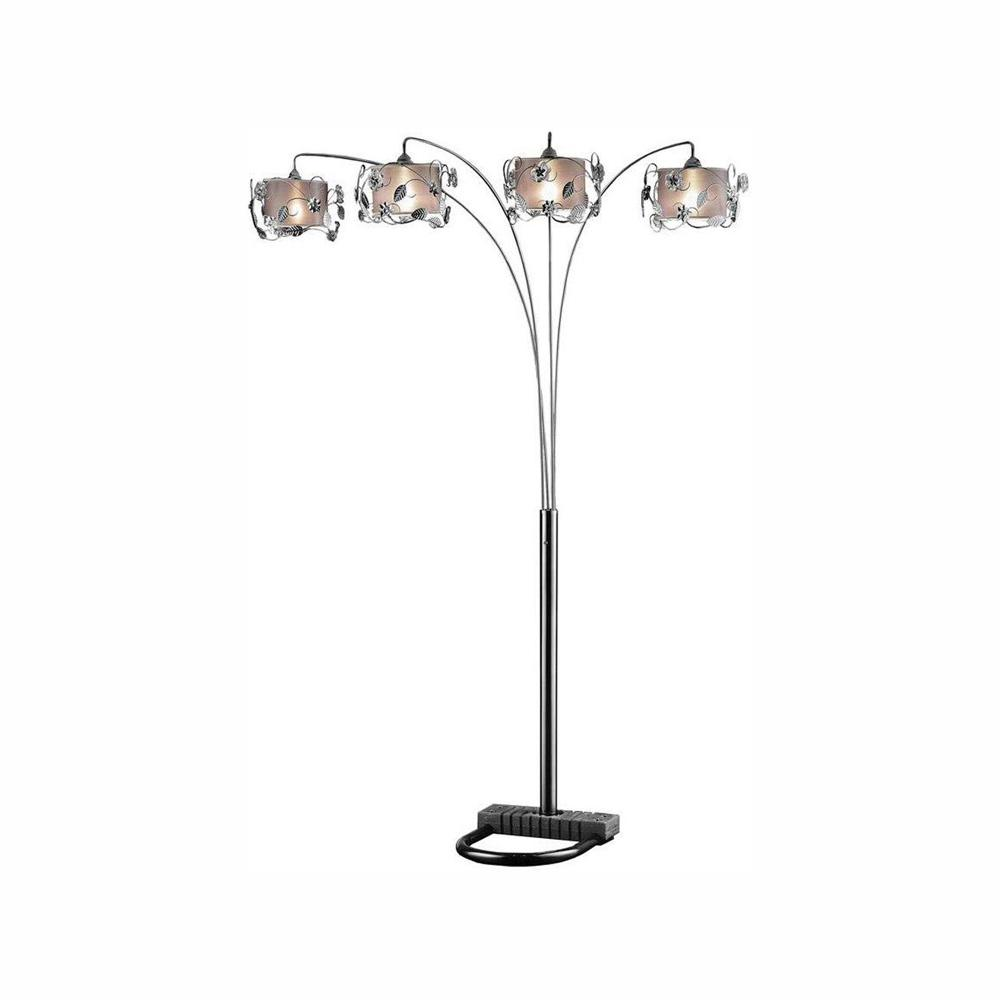 ORE International 91 in. Silver Crystal Arch Lamp