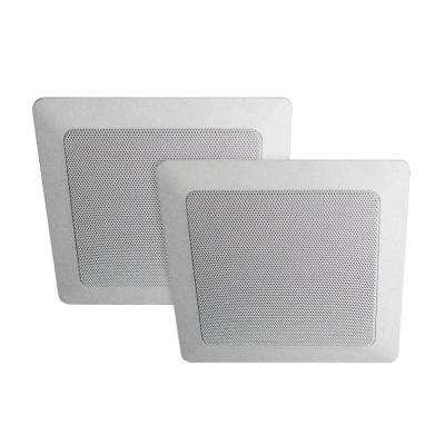 Music Therapy 60-Watt 2-Way Indoor/Outdoor Square Speaker System, White (2-Pack)