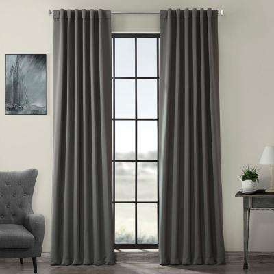 Semi-Opaque Anthracite Grey Blackout Curtain - 50 in. W x 96 in. L (Panel)